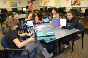 Students having fun and learning