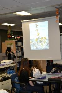 Ms. Lau teaching Math using Doodle Buddy