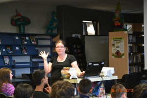 Carrie Mac visits KP Learning Commons