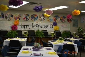 Decked out for Ms. Addie's Retirement Party